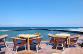 Outdoor restaurant at the seafront, Tenerife island, Spain — Stock Photo