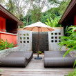 Outdoor recreation area of the SPA center, Phuket,  Thailand — Stock Photo