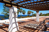 Covered terrace at the luxury hotel, Tenerife island, Spain — Stock Photo