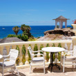 Sea view terrace of the luxury hotel's restaurant, Tenerife isla — Stock Photo