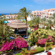 Building and recreation area of luxury hotel, Tenerife island, S - Stock Photo