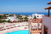 Luxury hotel recreation area, Crete, Greece — Stock Photo