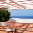 The sea view from a terrace of luxury hotel, Tenerife island, Sp - Lizenzfreies Foto