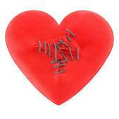 Heart sewn — Stock Photo