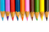 Pencils in a row — Stock Photo
