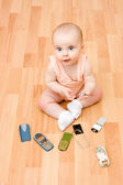 The kid broke his cell phone. — Stock Photo