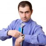 Businessman on a white background. — Zdjęcie stockowe