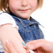 Child vaccinations on a white background. — Stock Photo