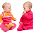 Two baby on a white background. — Stock Photo #6103750