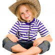 Girl cowboy on a white background. — Stock Photo #6306342