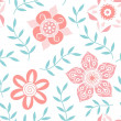 Bright floral seamless pattern — Stock Vector