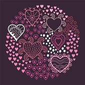 Hearts background — Vector de stock