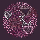 Hjärtan bakgrund — Stockvektor
