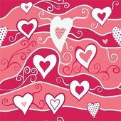 Romantic seamless pattern with hearts — Stockvektor