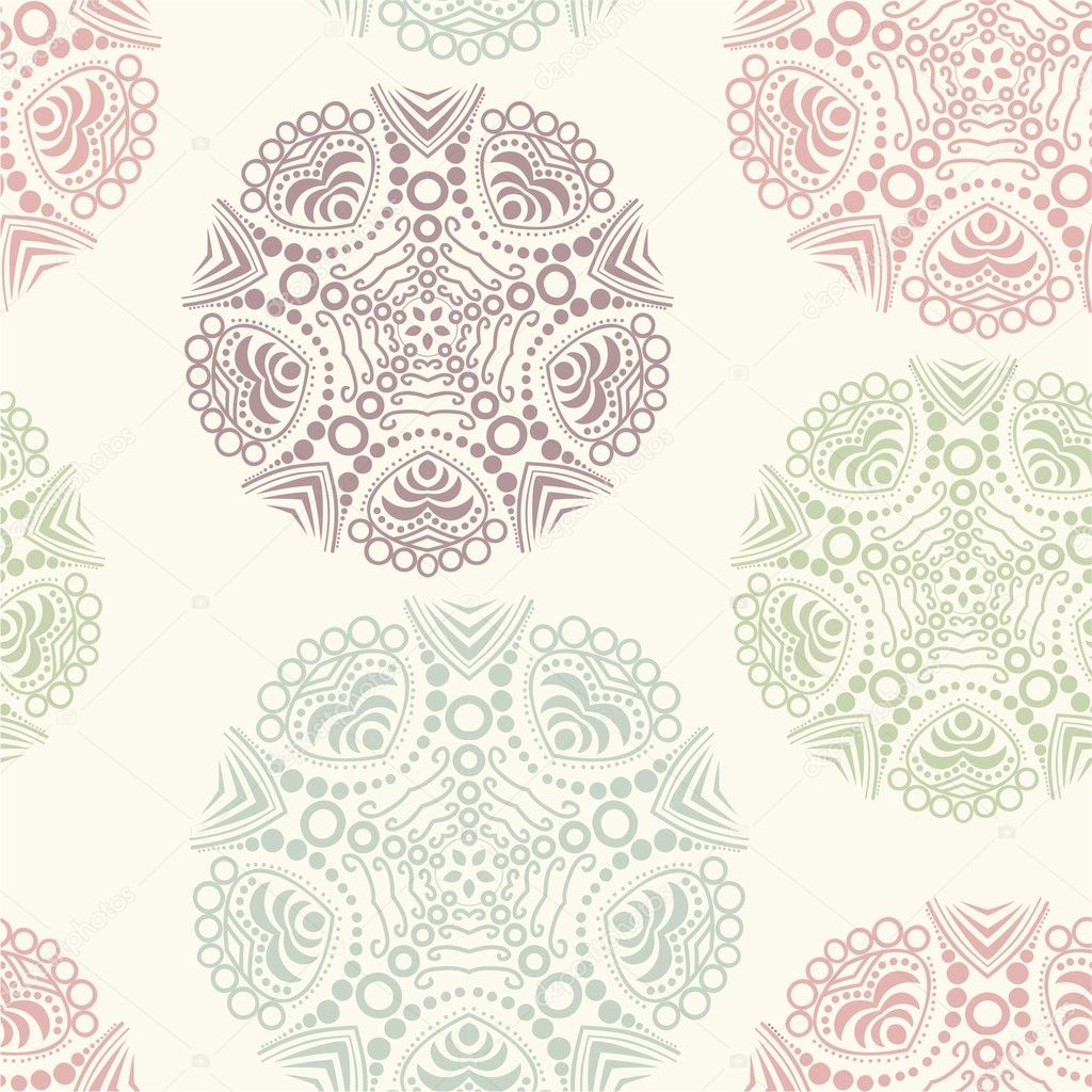 Floral seamless pattern, endless texture.  — Stock vektor #5734340