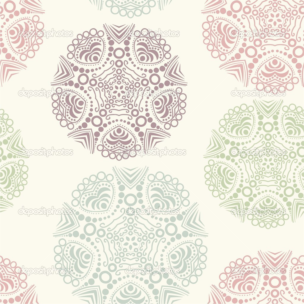 Floral seamless pattern, endless texture.  — ベクター素材ストック #5734340
