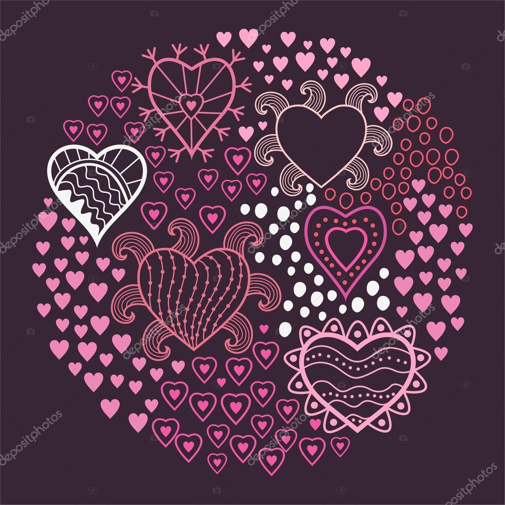 Hearts background  — Stock Vector #5735520