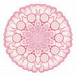 Ornamental round lace — Stockvectorbeeld