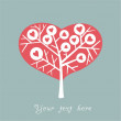 Stock Vector: Heart shape tree