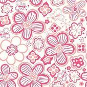 Patrón floral romántica, textura sin fin. — Vector de stock