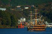 Ship trip in ashi lake, Japan — Stock Photo