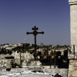 Jerusalem street travel on holy land — Stock Photo