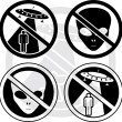 Royalty-Free Stock Vector Image: Set of danger UFO signs
