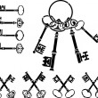 Set of medieval keys — Stock Vector #5433353