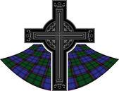 Scottish celtic cross — Stock Vector