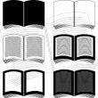 Stencils of books — Vector de stock #5547140