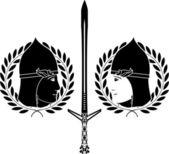 Slavonic warrior — Stock Vector