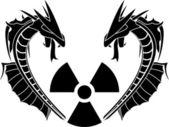 Radiation reptiles — Stock Vector