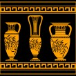 Hellenic jugs — Stock Vector