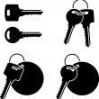 Set of keys - Stock Vector