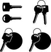Set sleutels voor het — Stockvector