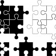 Puzzle pieces - Imagen vectorial