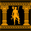 Royalty-Free Stock Vector Image: Fantasy warrior with with columns