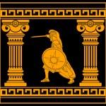 Постер, плакат: Fantasy warrior with with columns