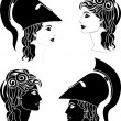 Greek woman profiles - Stock Vector