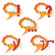 Royalty-Free Stock Vectorielle: Abstract speech bubbles