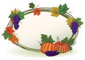 Vine and pumpkins — Vetor de Stock