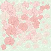 Orchid background — Stockvektor