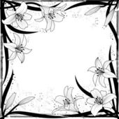 Lily frame — Stock Vector