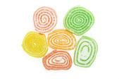 Multicolored round marmalade — 图库照片