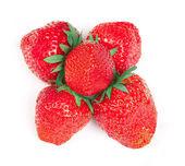 Fresas aisladas sobre fondo blanco — Foto de Stock