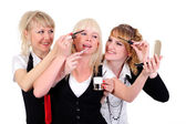 Boss and two helpers — Stock Photo