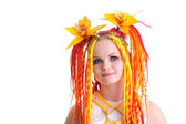 Woman with bright hair — Stock Photo