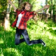 Jumping girl — Stock Photo #6119187