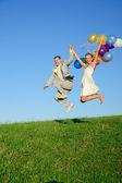 Happy wedding pair — Stock Photo