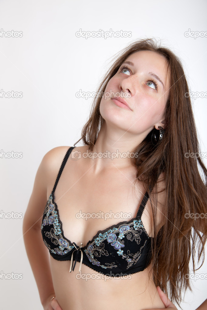 Portrait of the girl in a bra — Stock Photo #6553440